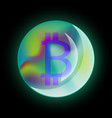 bitcoin sign vector image