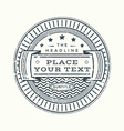 grunge retro monochrome vintage style badge vector image