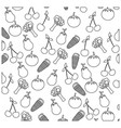 figure vegetables background icon vector image