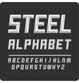 Set of letters alphabet steel color vector image