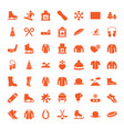 49 winter icons vector image vector image