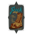 a rock boot vector image vector image