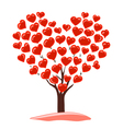 abstract drawing of tree with heart vector image vector image