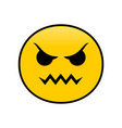angryticon angry emotion symbol design vector image
