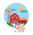 animal barn farm fresh vector image