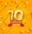 anniversary ceremony balloons 10 numbers vector image vector image