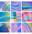 background smooth abstract design set vector image