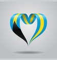 Bahamas flag heart-shaped ribbon