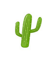 cactus print with texts in vector image vector image