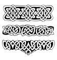 celtic symbols vector image vector image