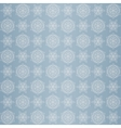 Christmas seamless pattern with snowflake blue vector image vector image