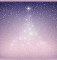 christmas tree of lights vector image