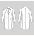 coat outlined template front back vector image vector image