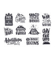 Collection written phrases slogans or quotes