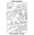 coloring turkey vector image