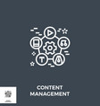content management line icon vector image vector image