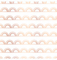 copper foil doodle arcs seamless background vector image vector image