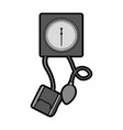 cute grey blood plessure apparatus cartoon vector image