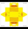 design ayam geprek food packaging die line vector image vector image