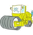 drawn colred asphalt spreader vector image vector image
