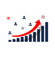 finance progress or growth graph or diagram vector image vector image