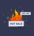 fire sale banner big sale special offer vector image