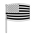 flag united states of america in pole waving out vector image vector image