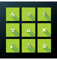 flat warning icon set vector image vector image