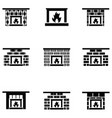 freplace icon set vector image vector image