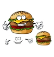 Fun cartoon cheeseburger vector image vector image