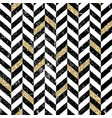 gold and black chevron pattern vintage seamless vector image vector image