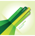 green line background vector image vector image