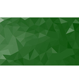 Green polygon background vector image