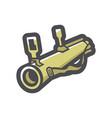 grenade launcher weaapon icon cartoon vector image
