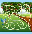 help birds find their foodand egg through path vector image