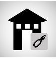 house construction repair tool icon vector image vector image