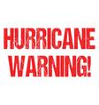 hurricane typo header news logo for banner design vector image vector image