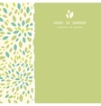 Leaf texture square torn frame seamless pattern vector image vector image