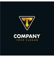 letter t emblem logo logotype design vector image vector image