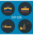 Logistic icon set for Web or Mobile aplication vector image