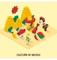Mexican Icon Isometric vector image vector image