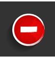 Old red stop road sign vector image