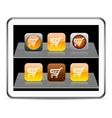 Orange Shopping cart app icons vector image