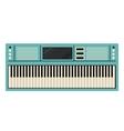 Piano keyboard instrument design vector image vector image