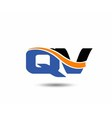 QV company linked letter logo vector image vector image