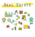 real estate investment concept icon vector image vector image