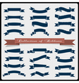 Retro styled ribbons banners vector image