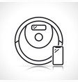 robot vacuum cleaner line icon vector image vector image