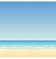 sand beach and blue sky vector image vector image