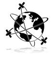 satellites vector image